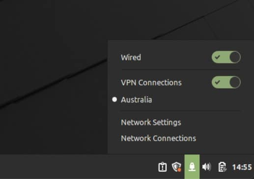 Mint - Enable VPN