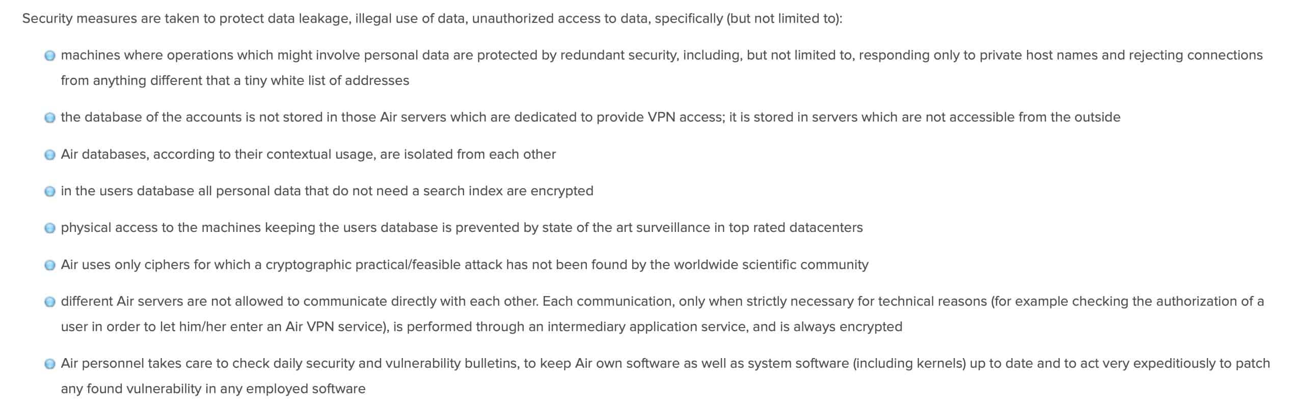 AirVPN - Privacy Policy 3
