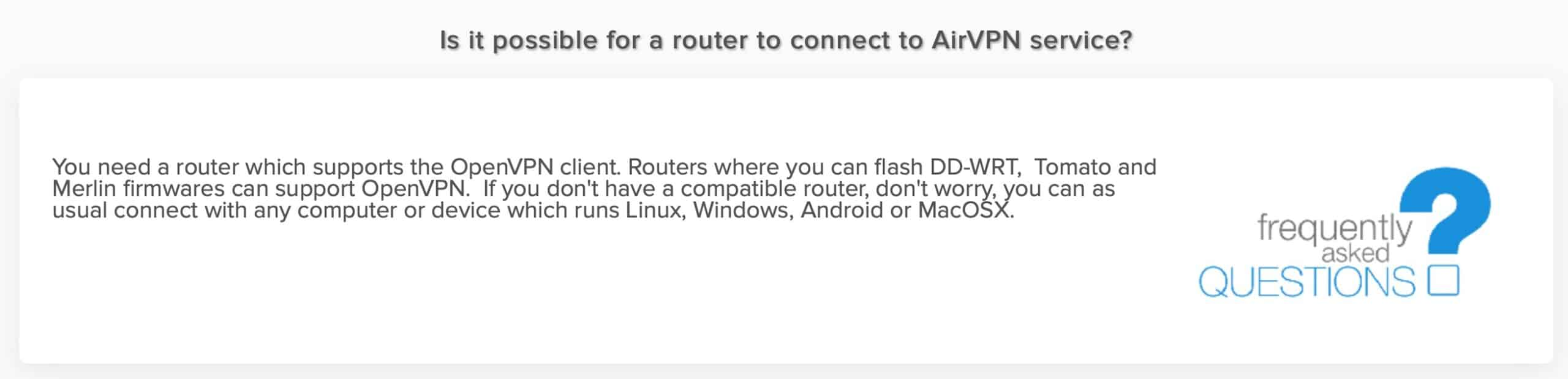 AirVPN - Routers