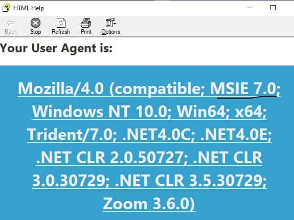 ie7 user agent