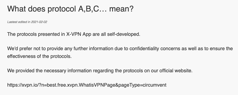 X-VPN - Protocols Help