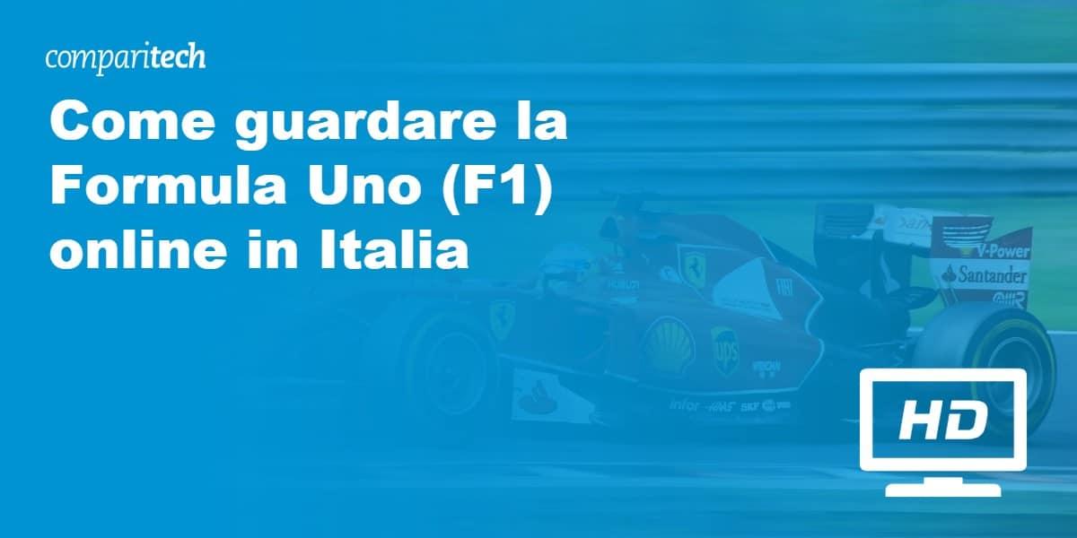 Come guardare la Formula Uno (F1) online in Italia