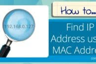 How to Find an IP Address using a MAC Address