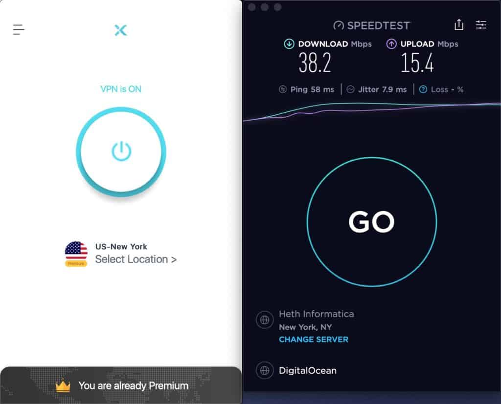 X-VPN - Speed Test