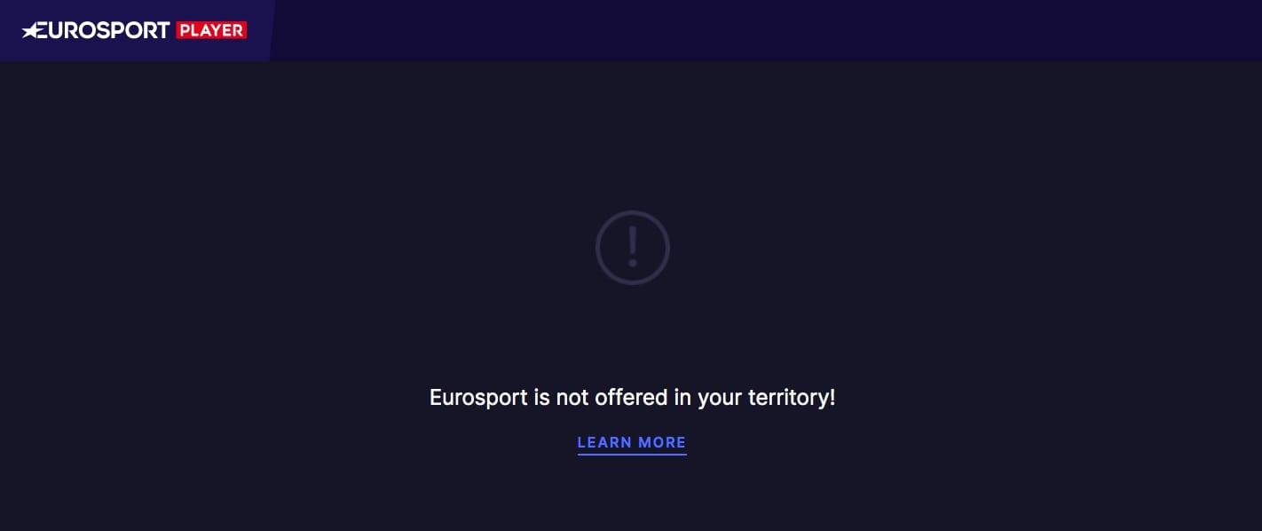 Eurosport Player geographic restriction