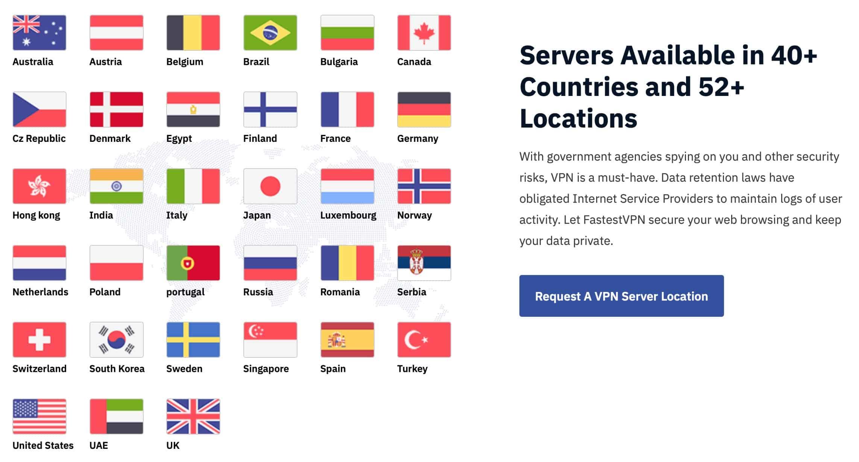 FastestVPN - Servers