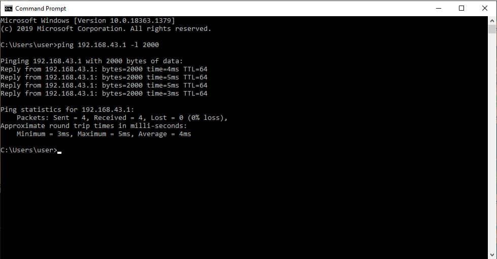 Command Prompt Screenshot