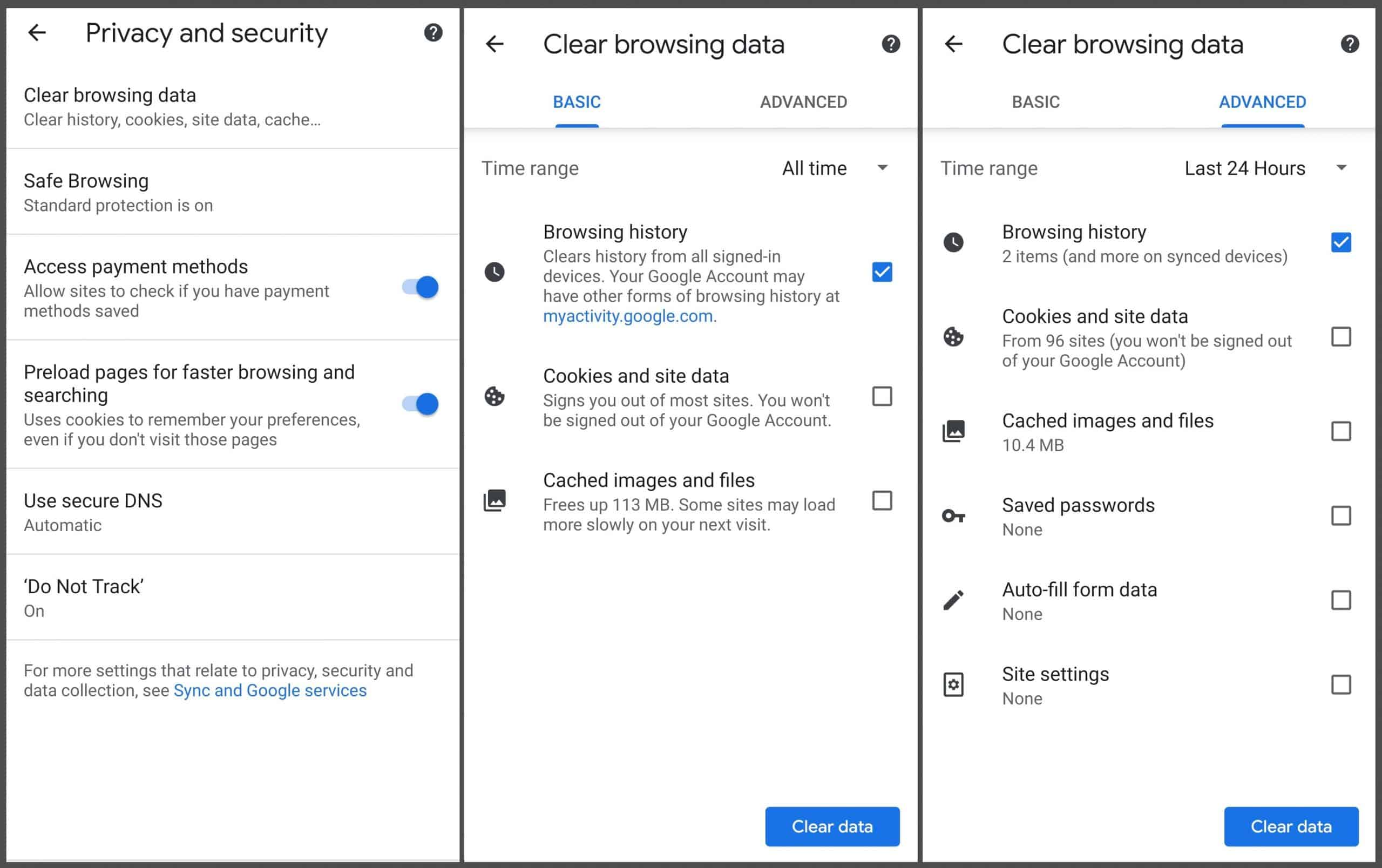 How to clear browser history chrome mobile