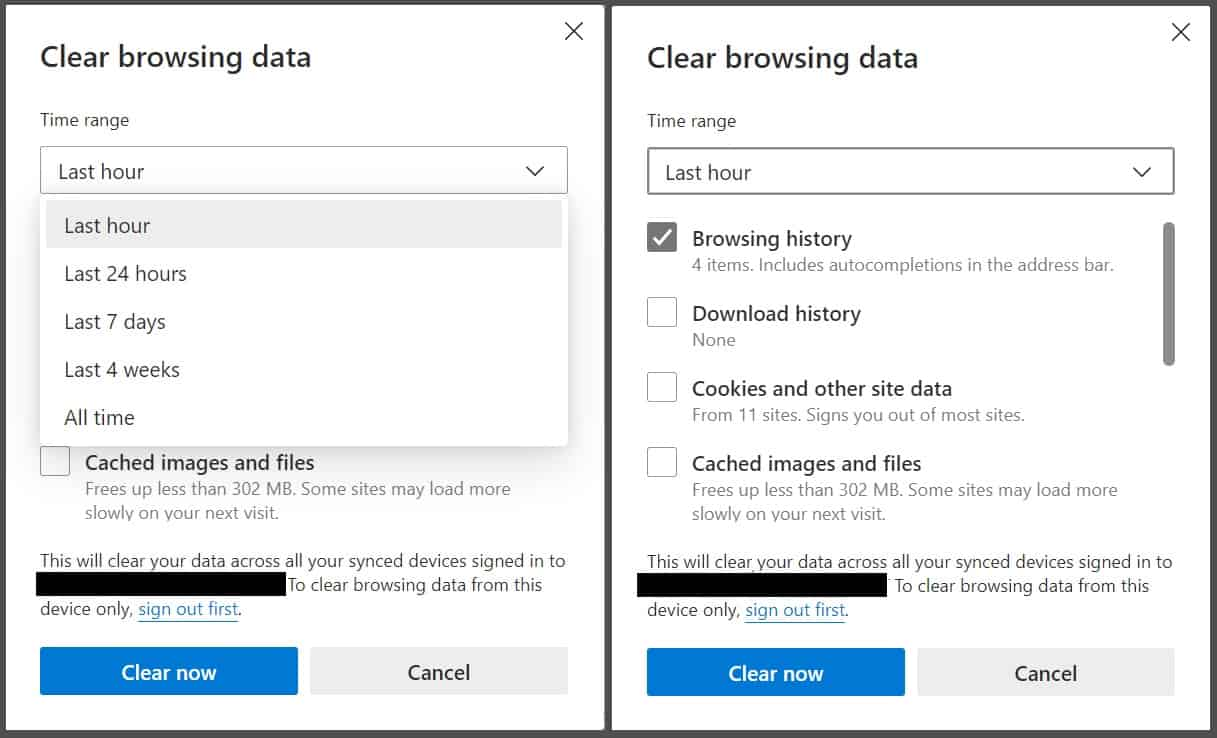How to clear browser history edge