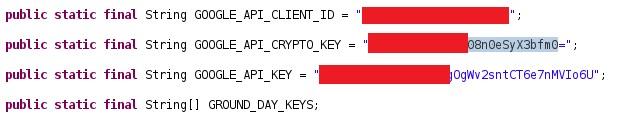 google api keys leaked