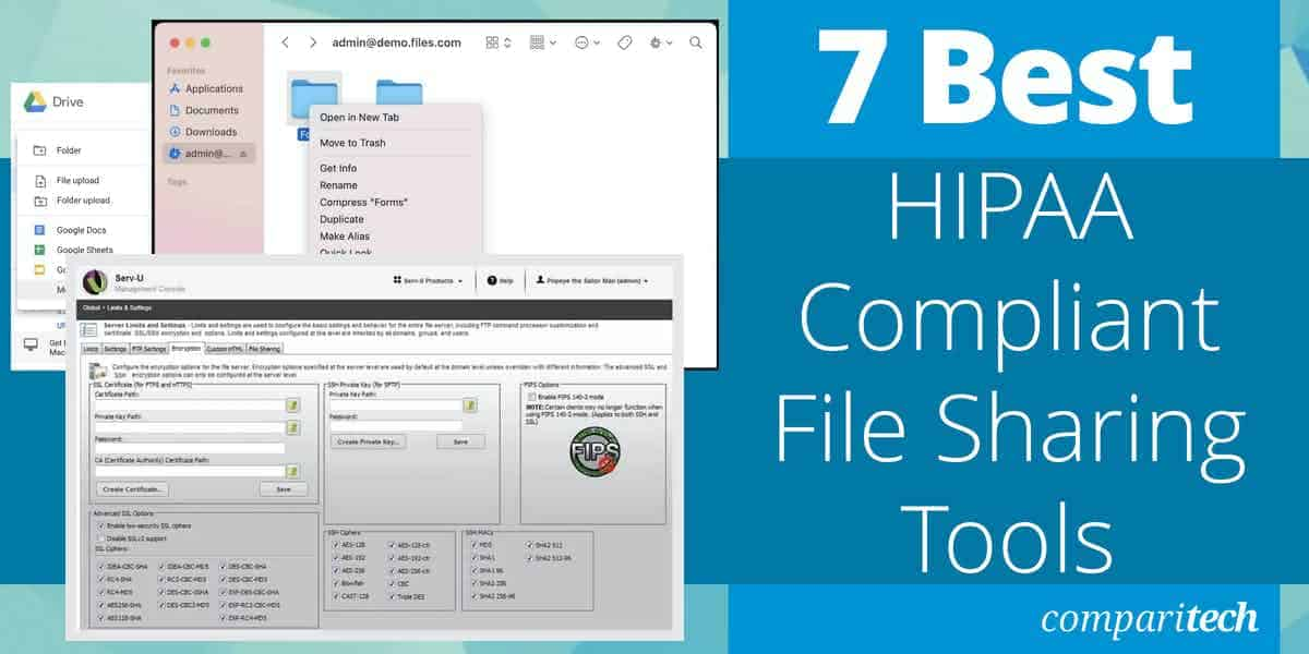 Best HIPAA Compliant File Sharing Tools