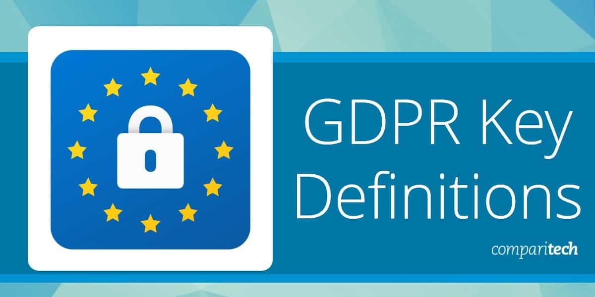 GDPR Key Definitions