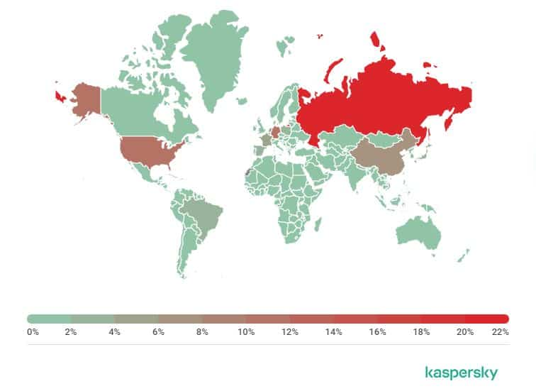 A spam source map.