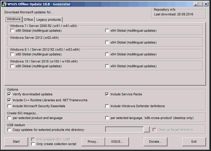 WSUS Offiline Update Generator