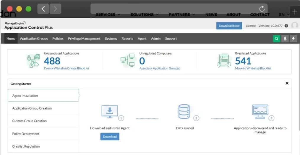 ManageEngine Application Control Plus