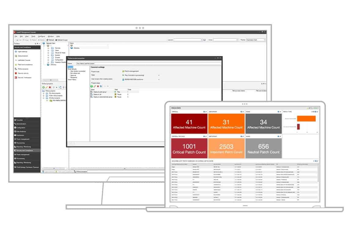Ivanti Patch for Endpoint Manager dashboard