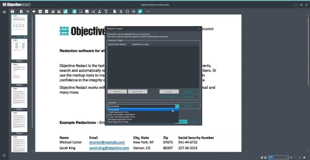 Objective Redact