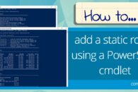 How to add a static route using a PowerShell cmdlet