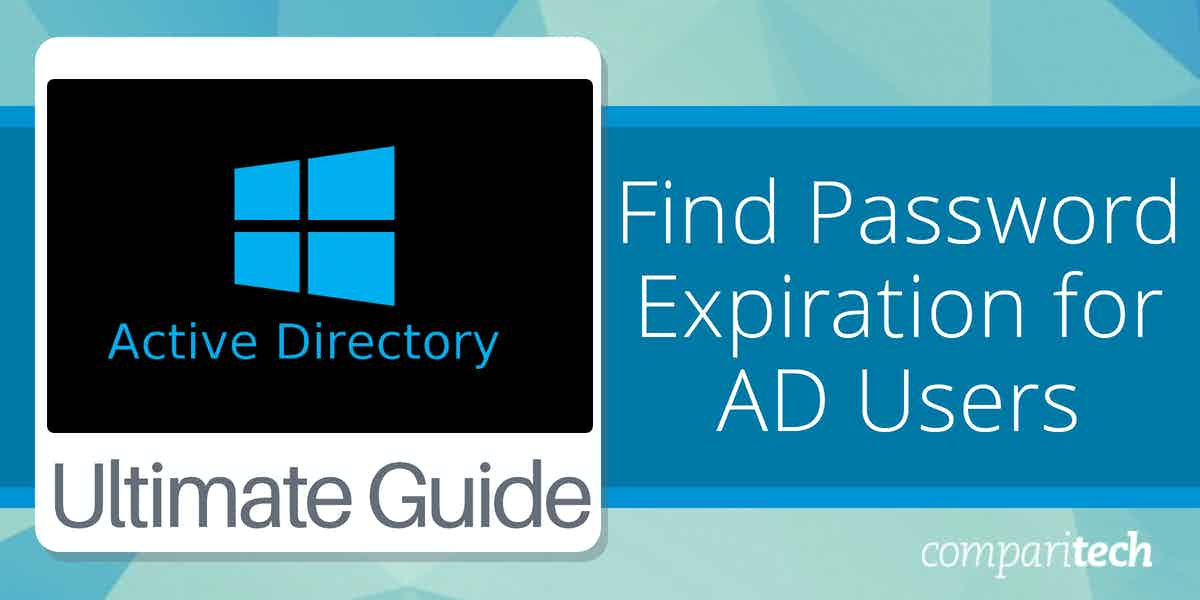 Find Password Expiration for Active Directory Users