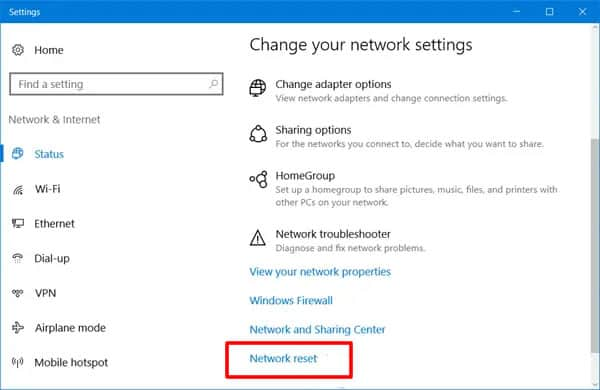 how to reset your network adapter