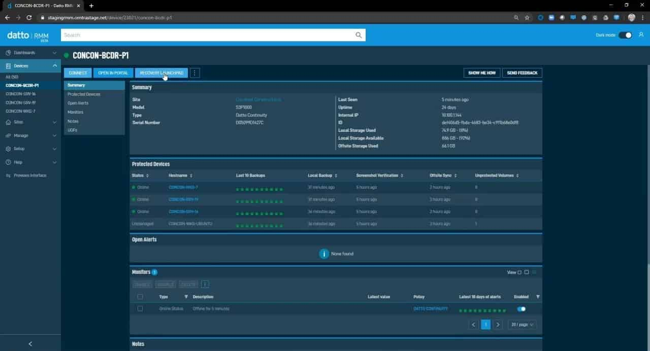 Datto Continuity for Microsoft Azure